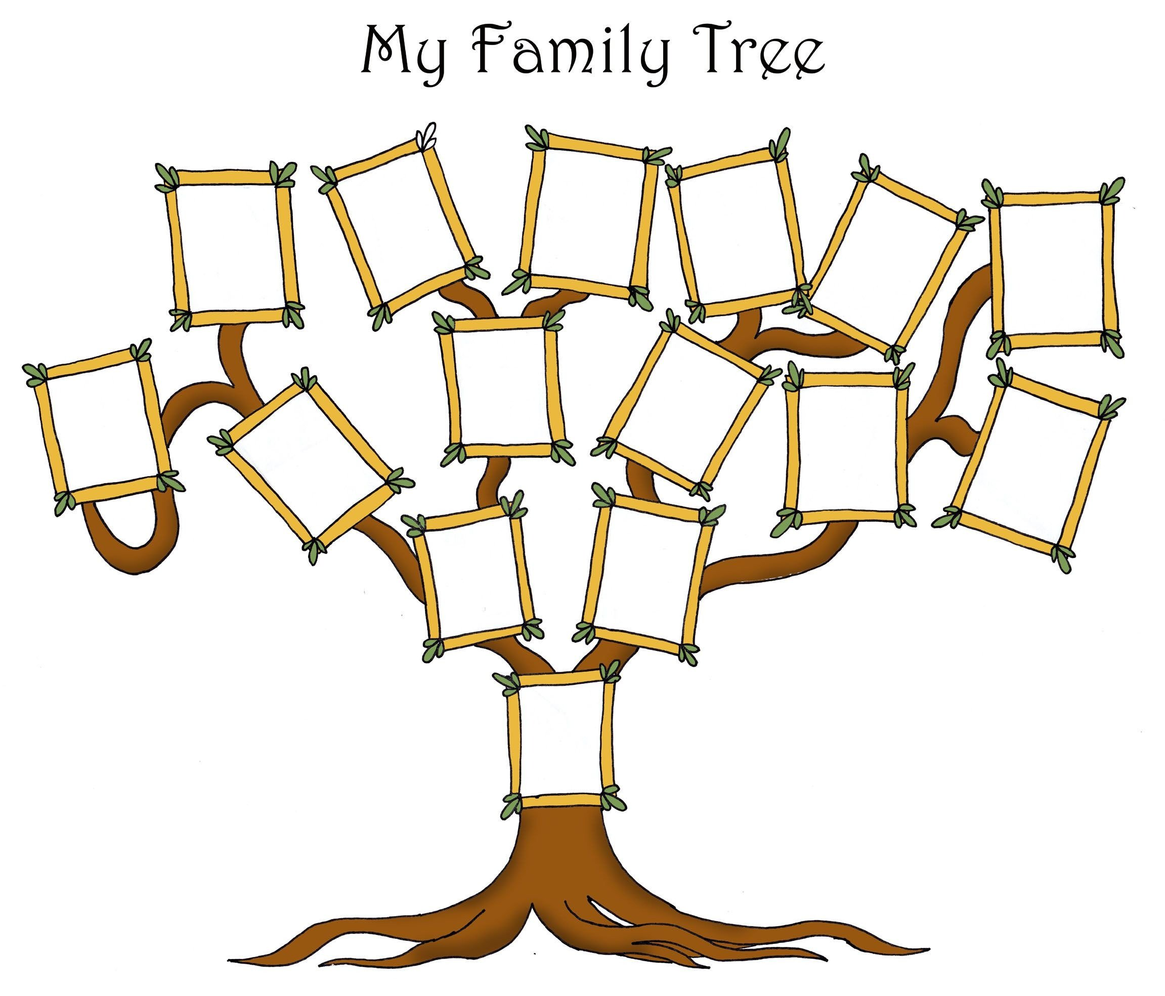 Template for Family Tree Free Editable Family Tree Template Daily Roabox