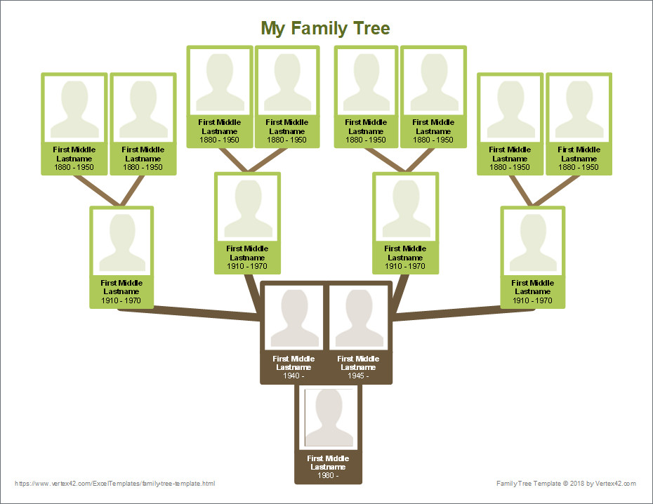 Template for Family Tree Free Family Tree Template