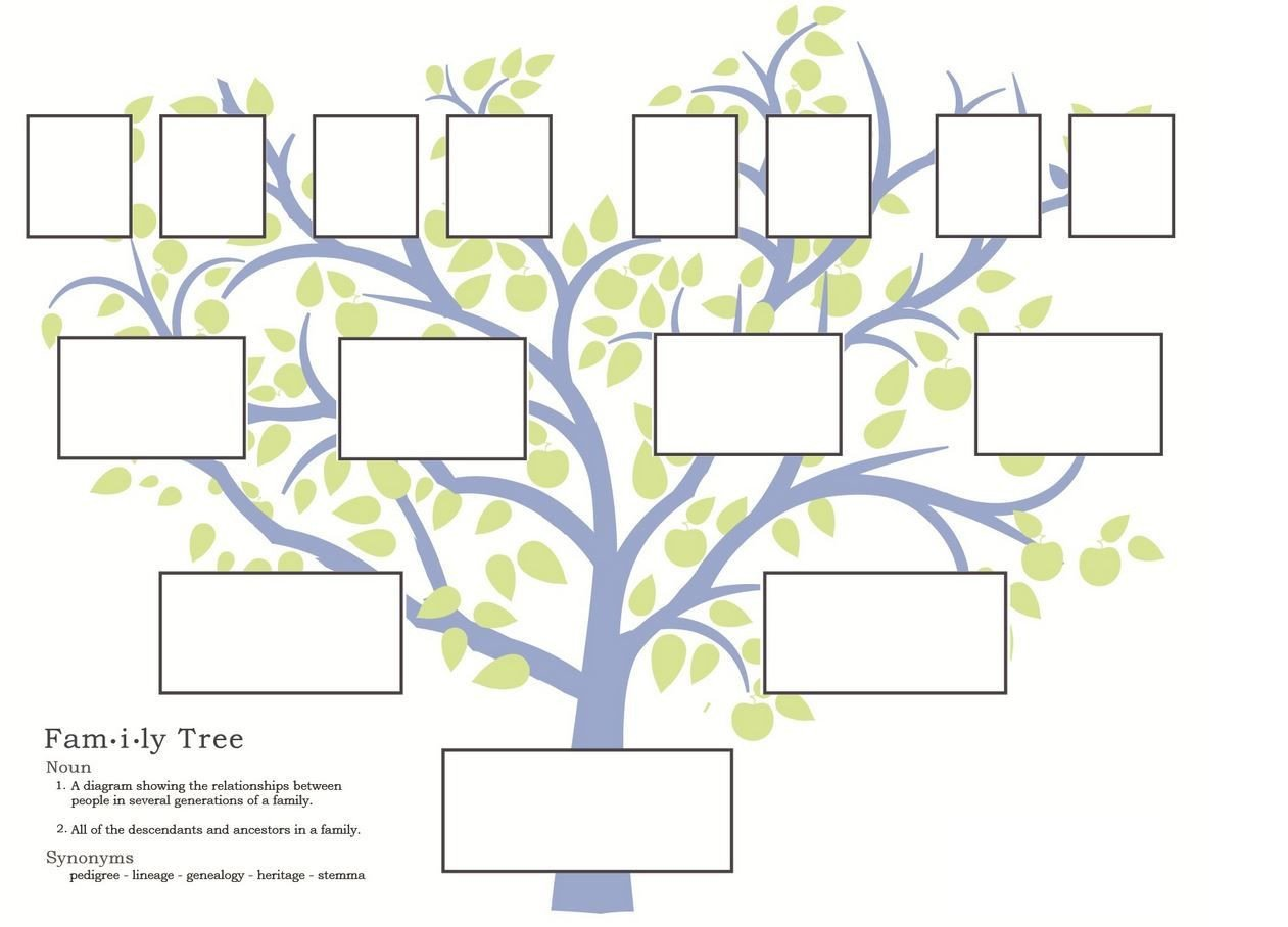 Template for Family Tree Free Family Tree Template to Print Google Search