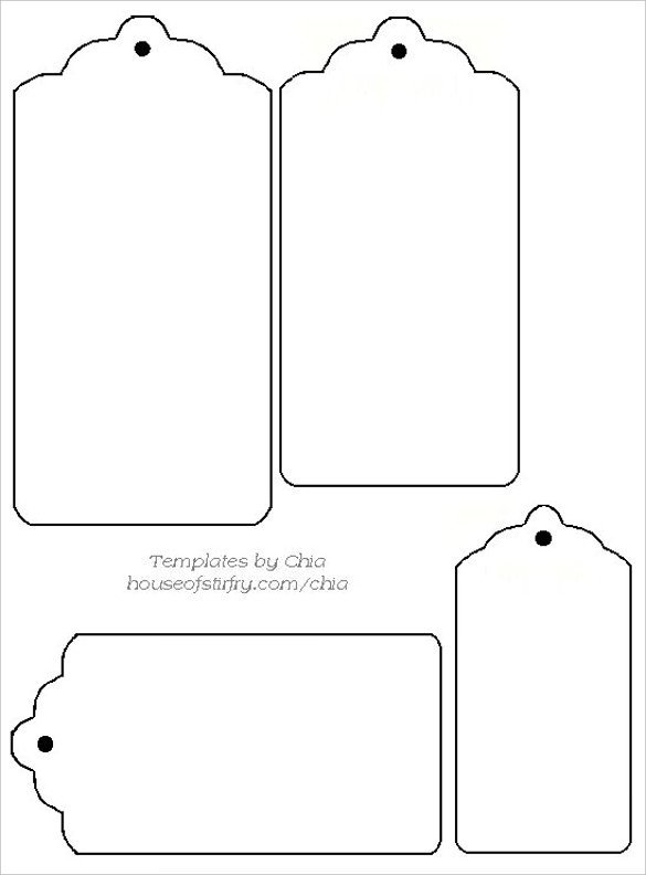 Template for Gift Tags 14 Free Tag Templates – Free Sample Example format