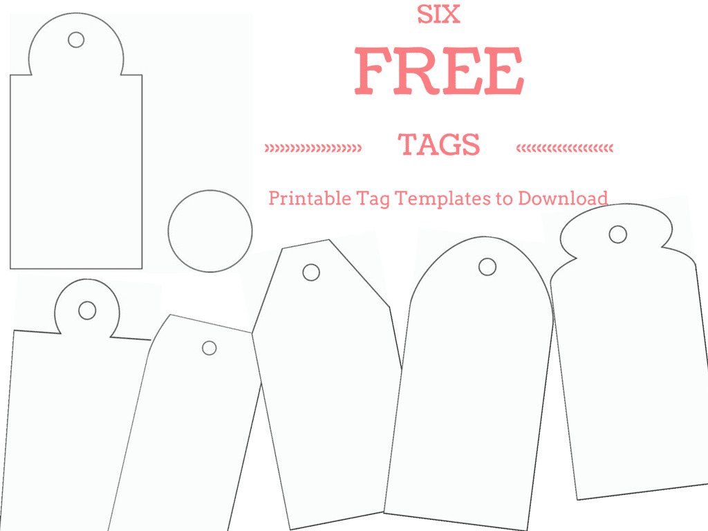 Template for Gift Tags 6 Free Printable Gift Tag Templates