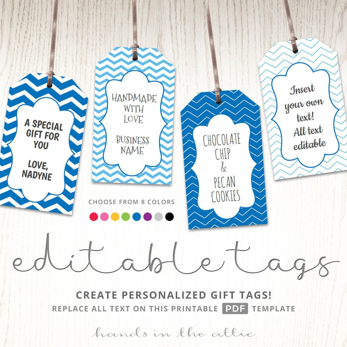 Template for Gift Tags Editable T Tags T Tag Template Text Editable Chevron