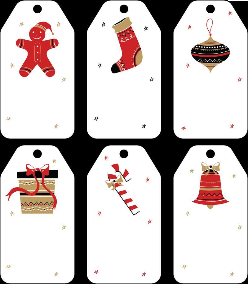 Template for Gift Tags Free Christmas Gift Tag Templates Editable & Printable