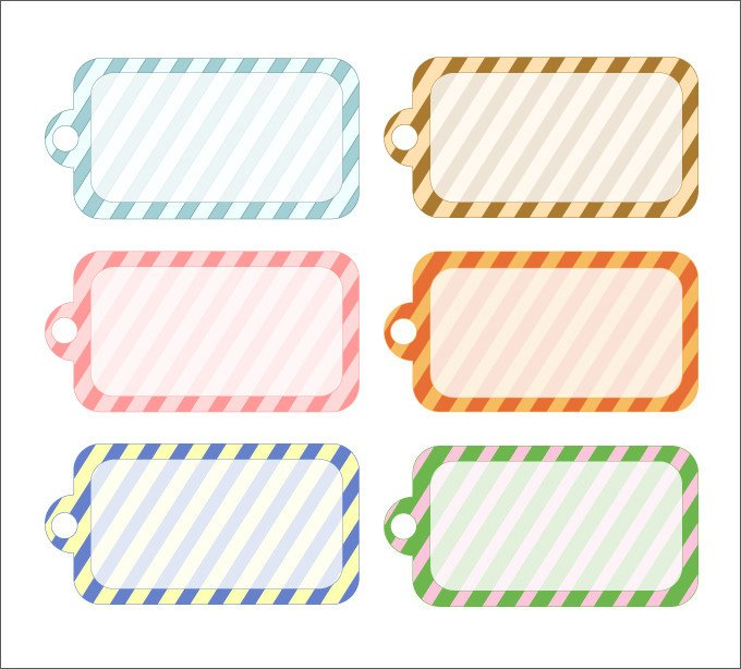 Template for Gift Tags Gift Tag Template 27 Free Printable Vector Eps Psd