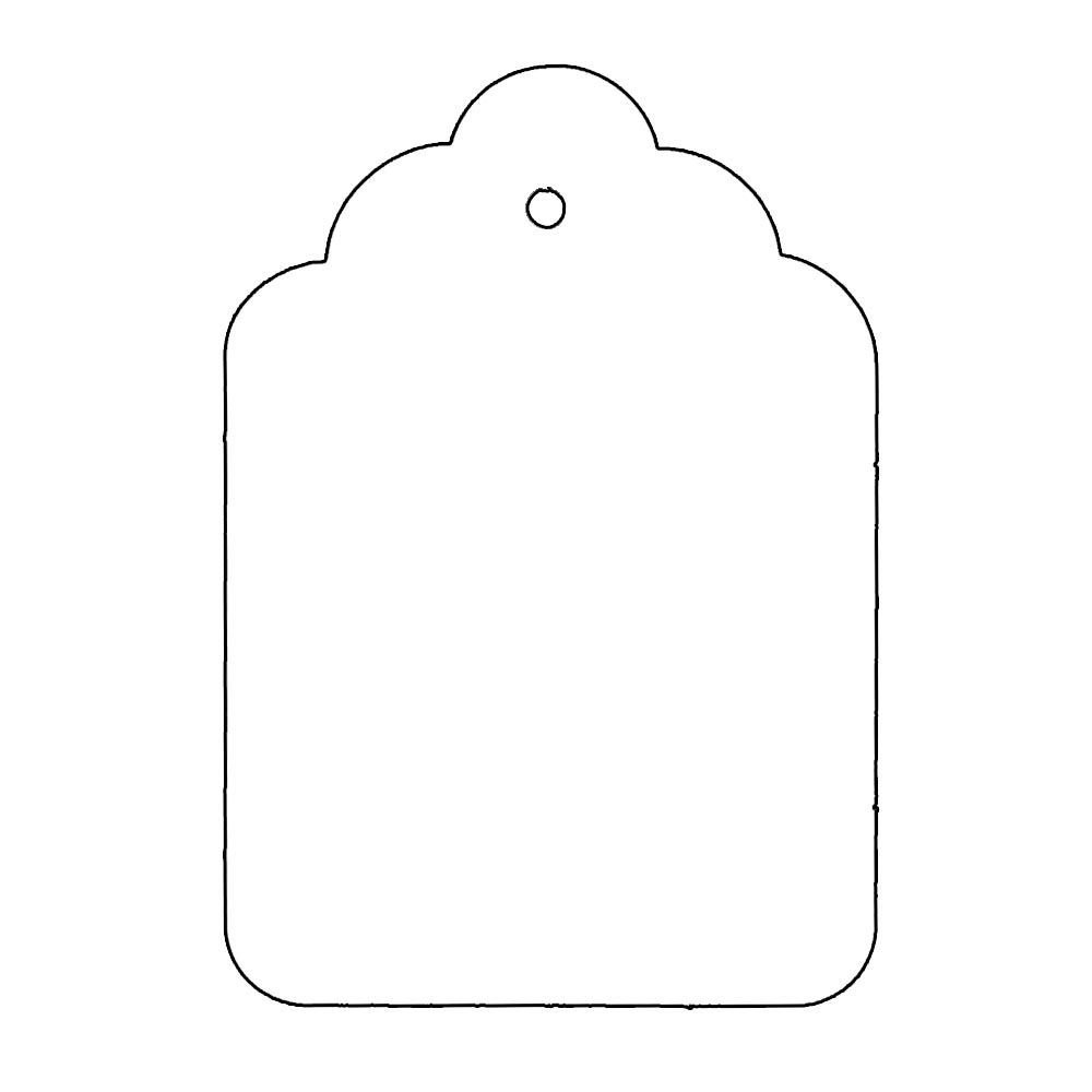Template for Gift Tags Tag Shape Template
