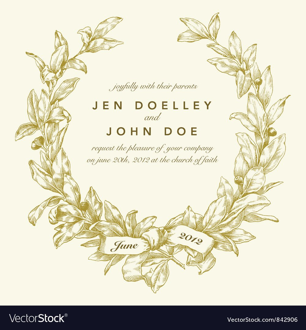Template for Wedding Invitations Wedding Invitation Templates Royalty Free Vector Image