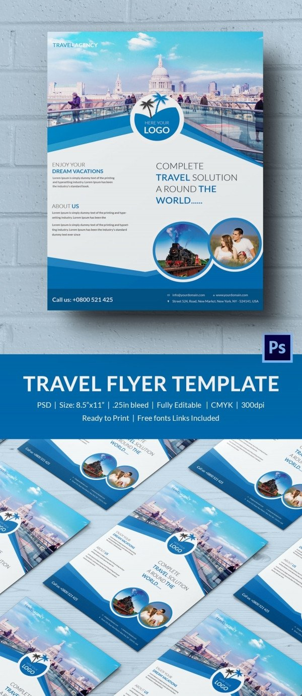 Templates for Flyers Free Travel Flyer Template 43 Free Psd Ai Vector Eps