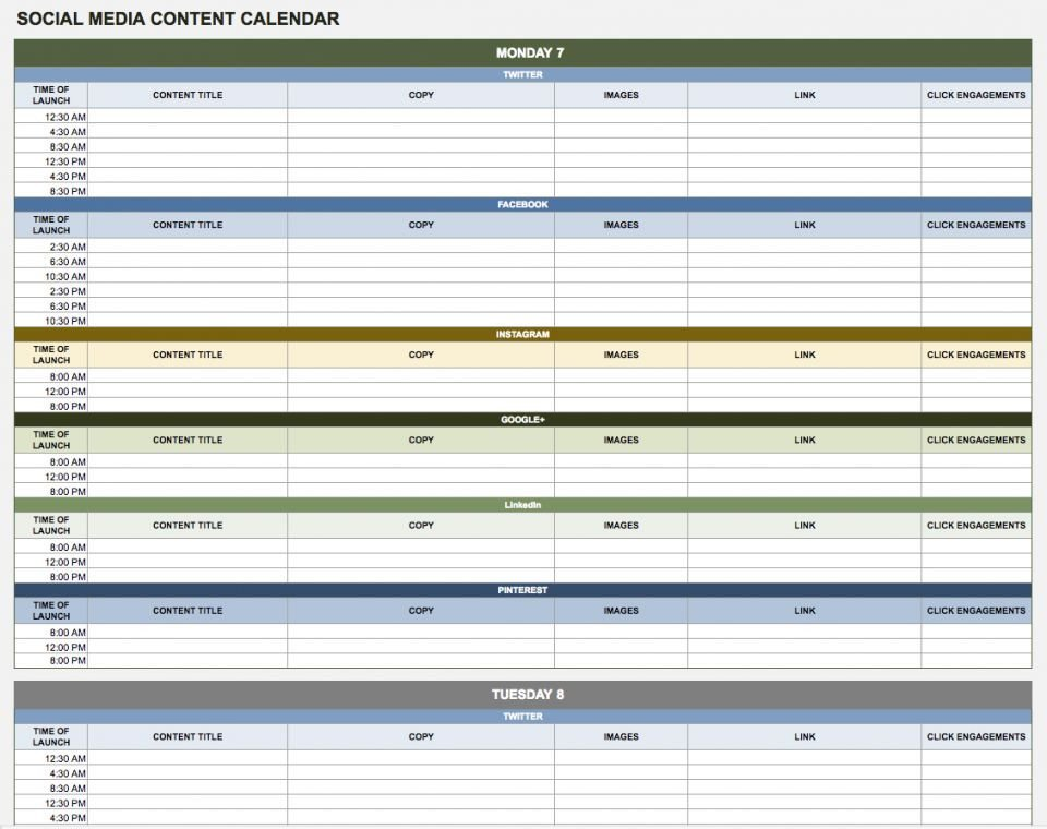Templates for Google Sheets Free Google Calendar Templates