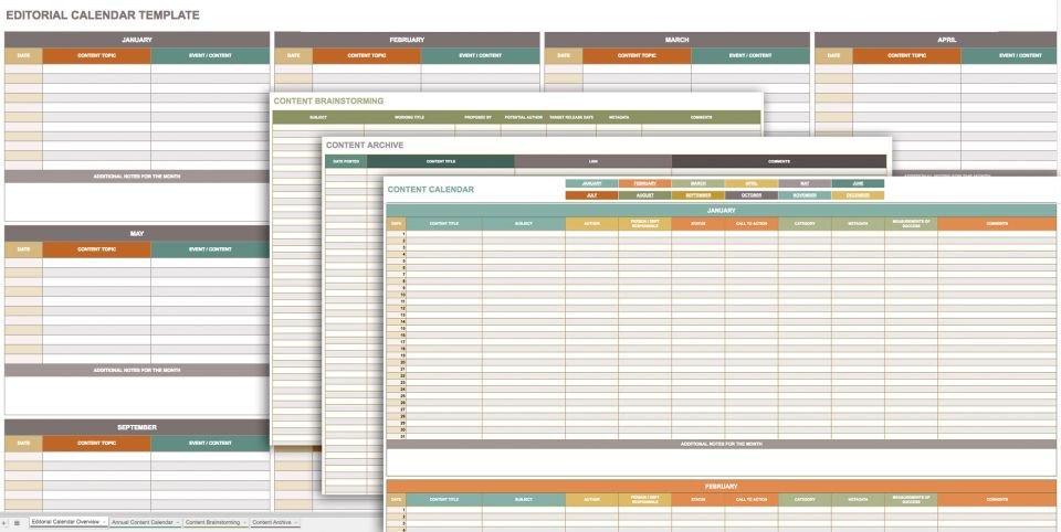 Templates for Google Sheets Free Google Calendar Templates