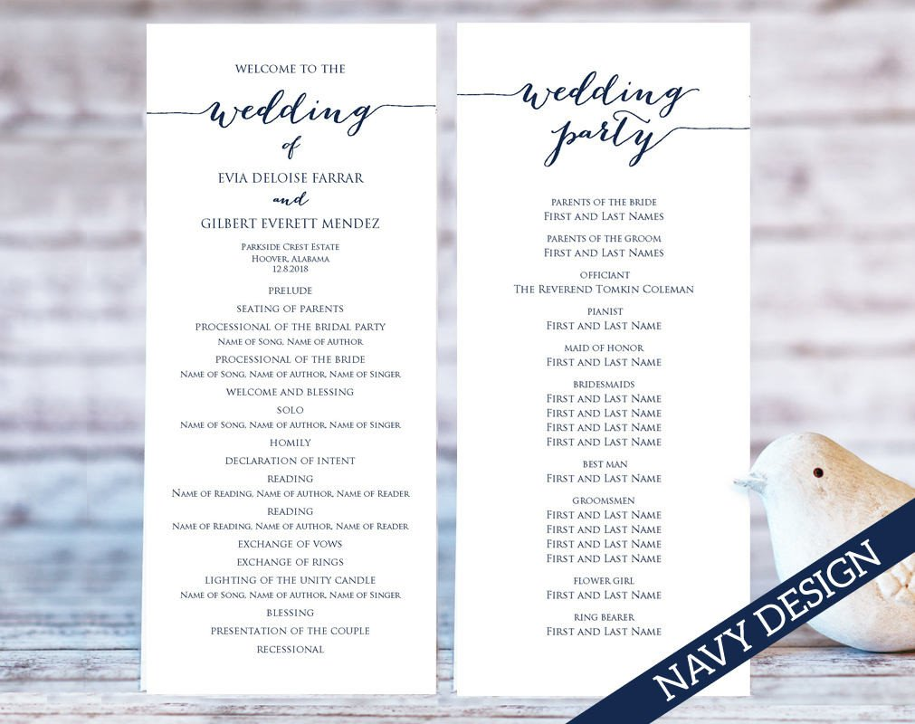 Templates for Wedding Programs Wedding Program Templates · Wedding Templates and Printables
