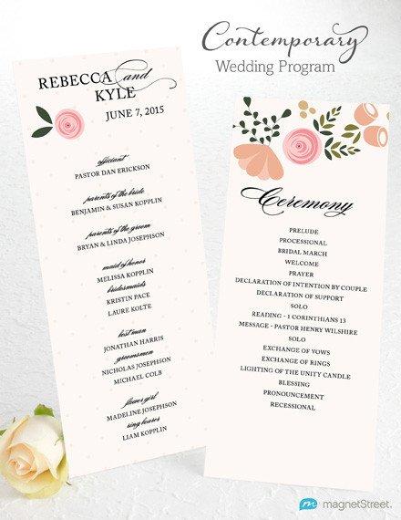 Templates for Wedding Programs Wedding Program Wording