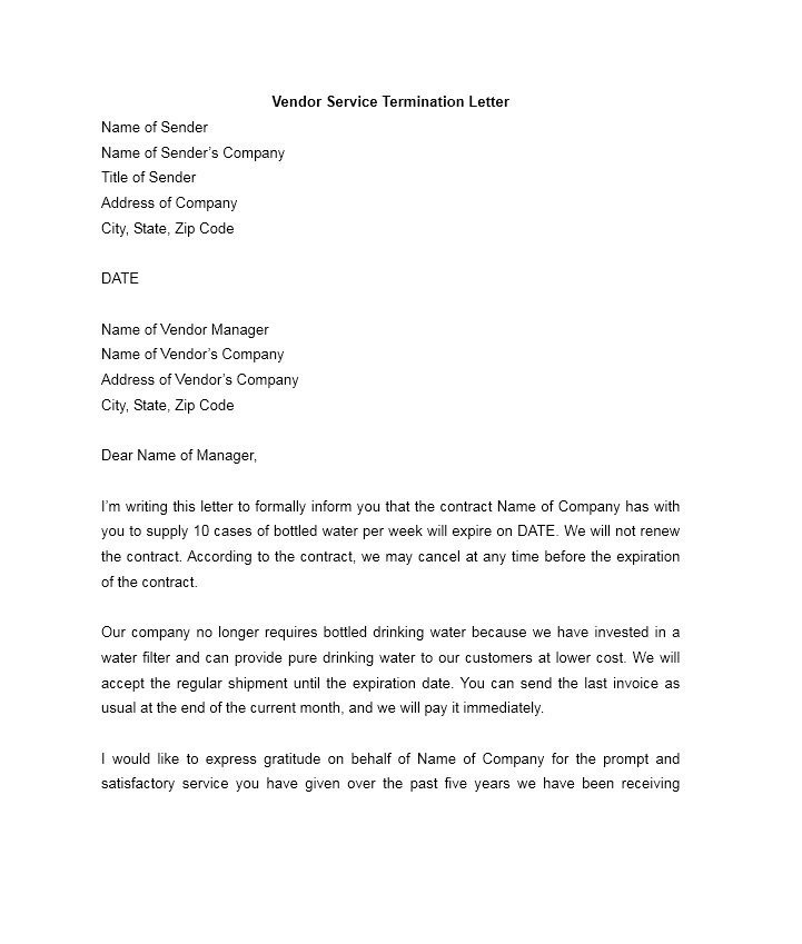 Termination Of Contract Letter 35 Perfect Termination Letter Samples [lease Employee