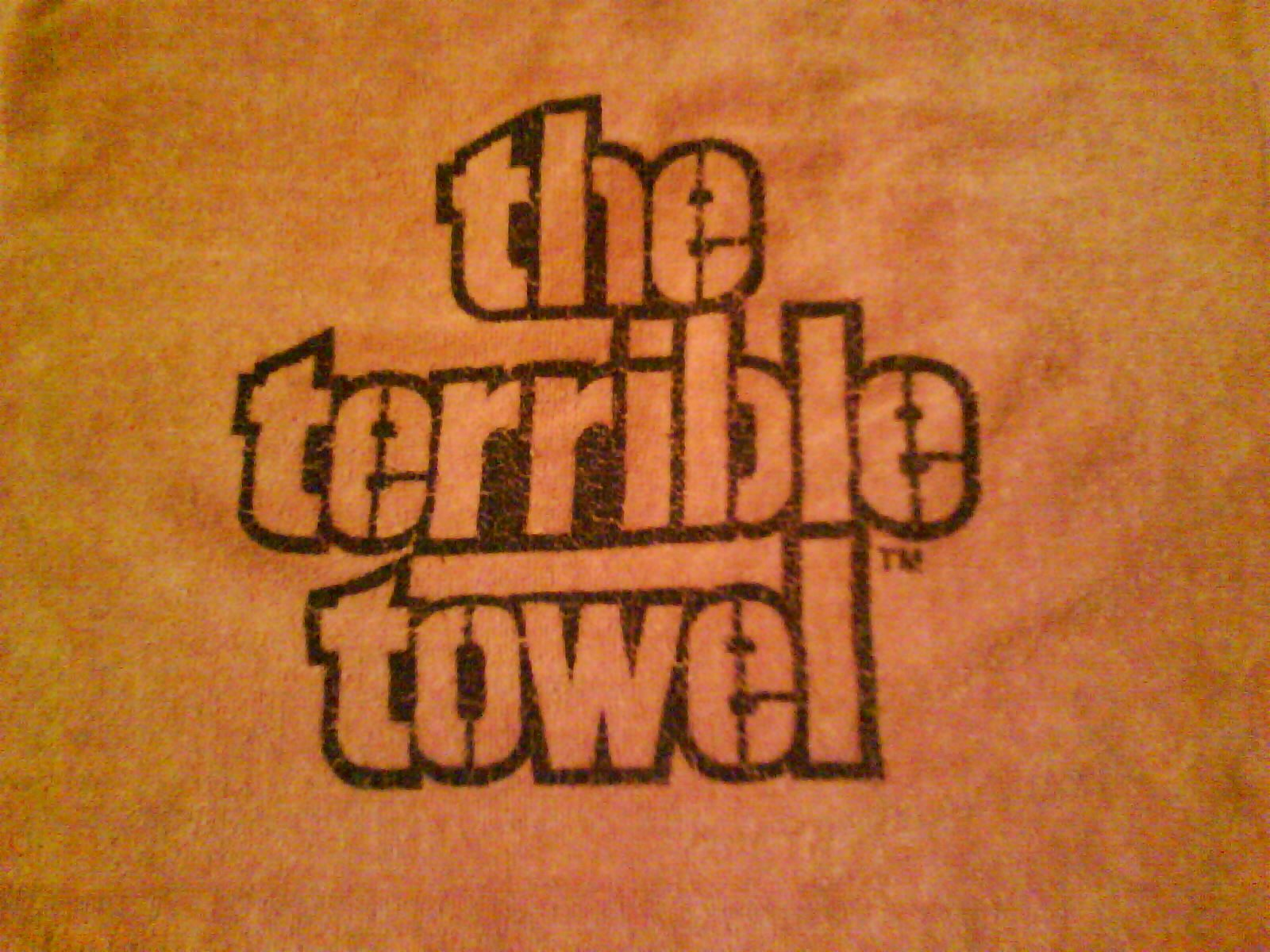 Terrible towel Pictures 2015 Super Bowl Playoffs Let the Games Begin