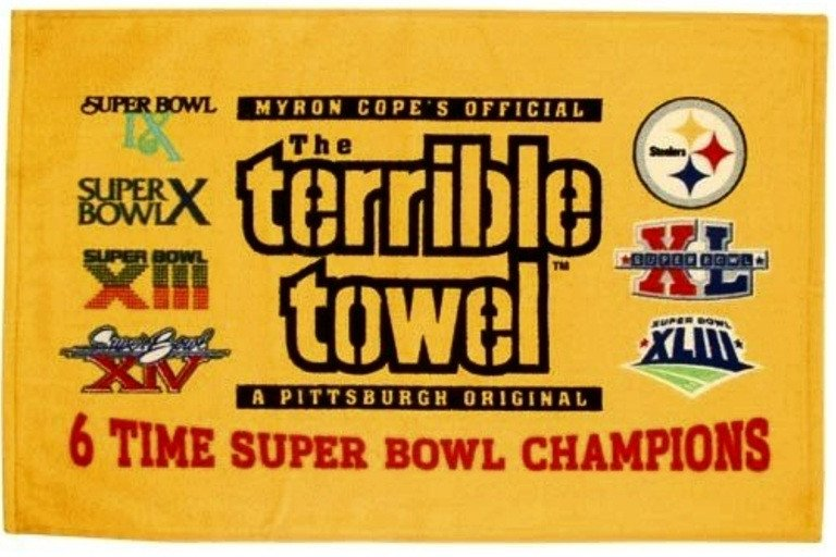 Terrible towel Pictures Image Terrible towel 6x Super Bowl