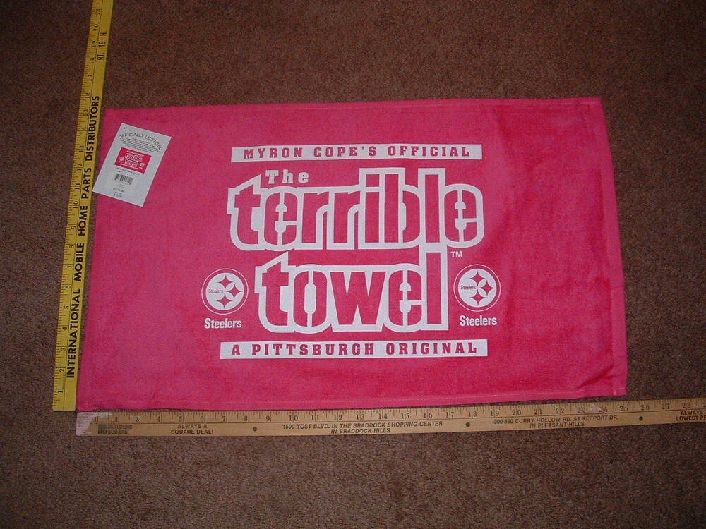 Terrible towel Pictures Myron Copes Official the Terrible towel Pink Terrible