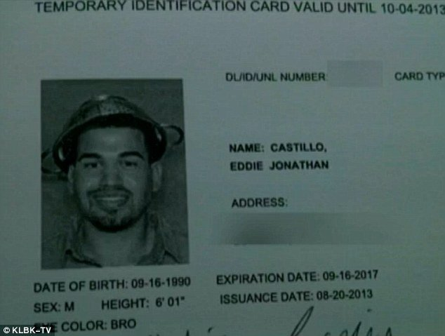 Texas Temporary Paper Id Fake atheist Campaigner Ed Castillo Wear Colander In Id