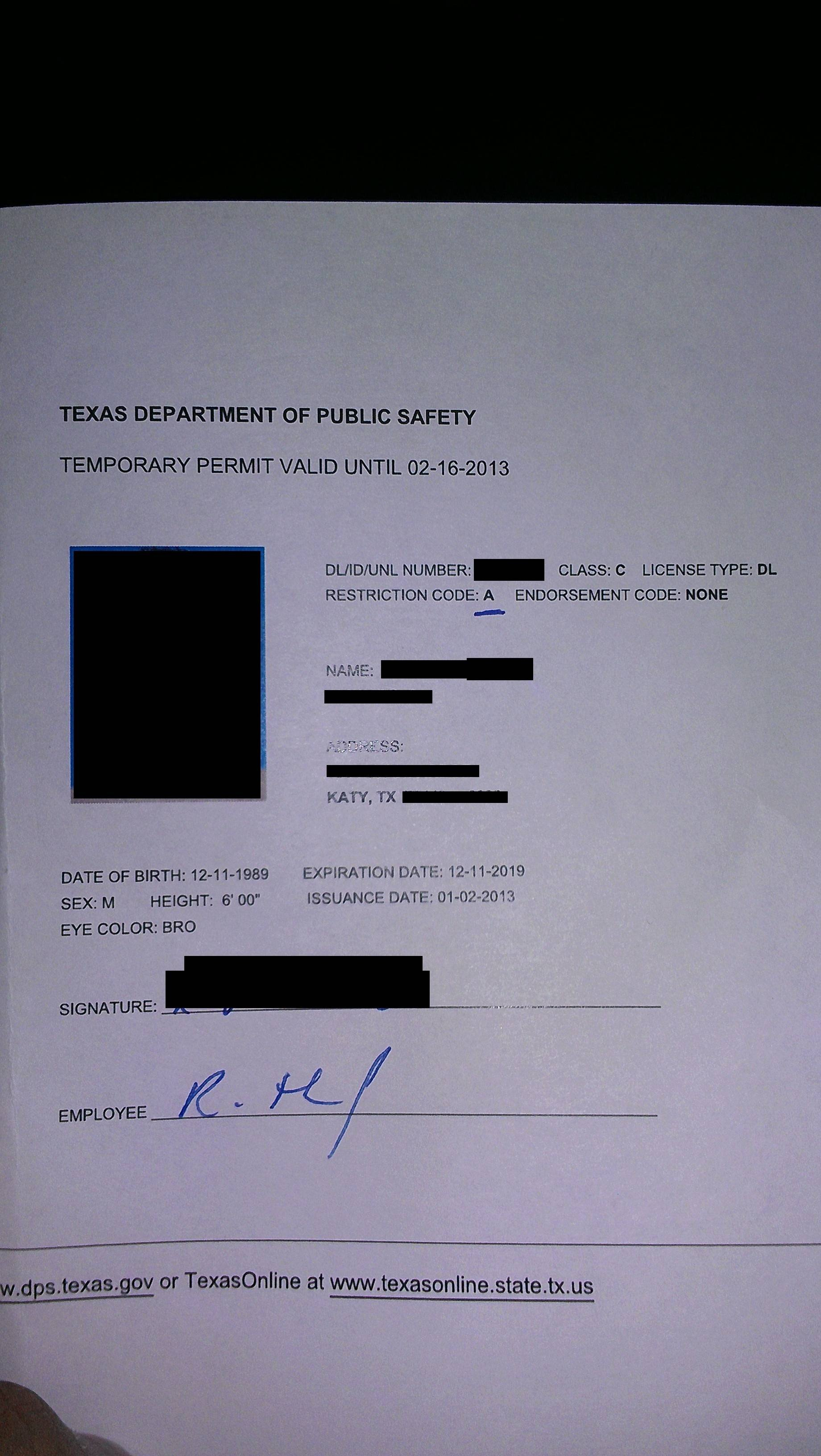 Texas Temporary Paper Id Fake Fake Doctor S Notes Templates Fast & Fun