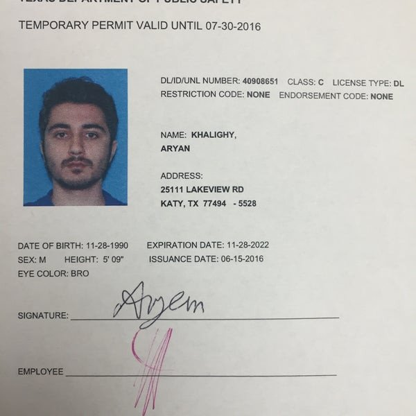 Texas Temporary Paper Id Fake S at Texas Dps Driver S License Fice 23 Tips