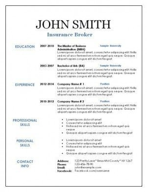 Textedit Resume Template Executive Resume Template