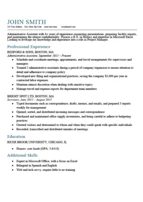 Textedit Resume Template Expert Preferred Resume Templates