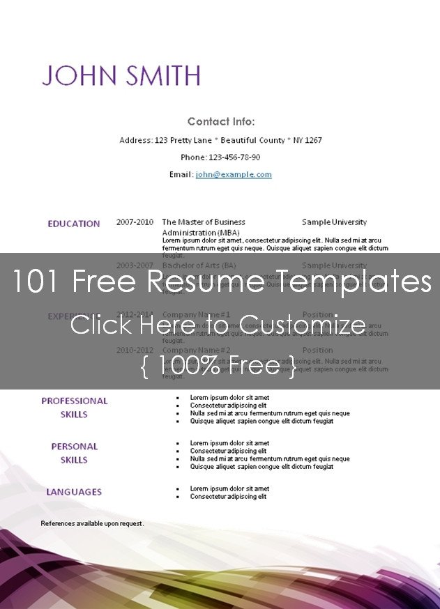 Textedit Resume Template Free Printable Resume Templates