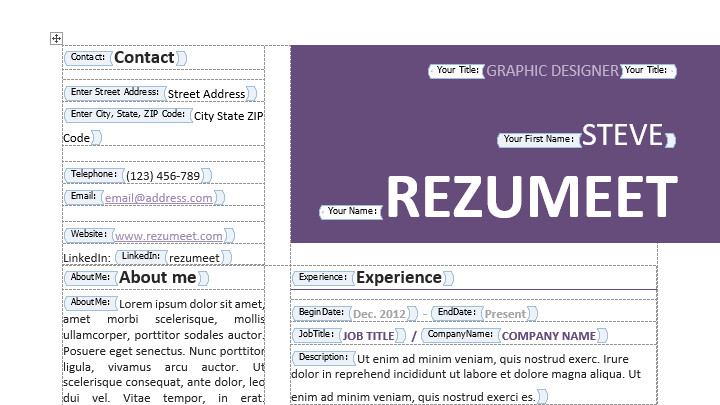 Textedit Resume Template Peckham Free Resume Cv Template Rezumeet