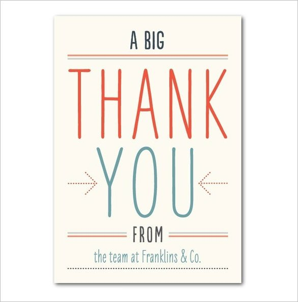 Thank You Postcard Template 18 Business Thank You Cards