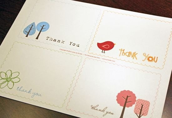 Thank You Postcard Template 25 Beautiful Printable Thank You Card Templates Xdesigns