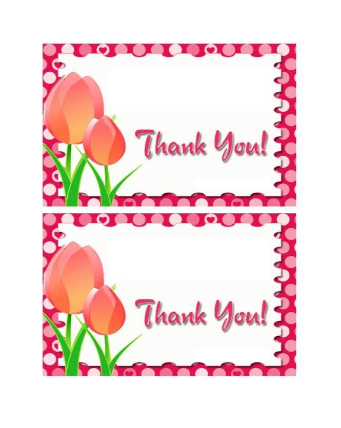 Thank You Postcard Template 30 Free Printable Thank You Card Templates Wedding