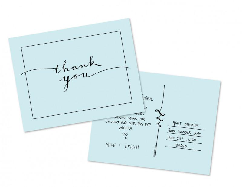 Thank You Postcard Template A Free Thank You Postcard Template From Melissa Esplin