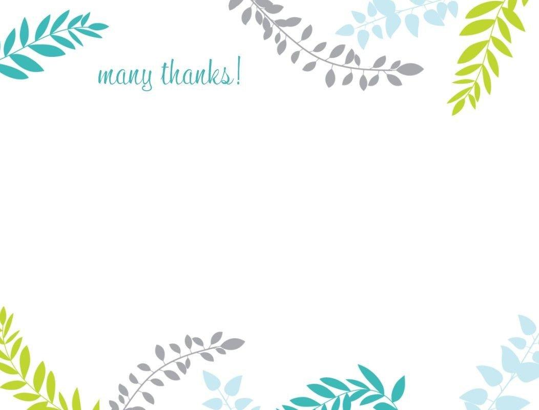 Thank You Postcard Template Printable Thank You Card Template