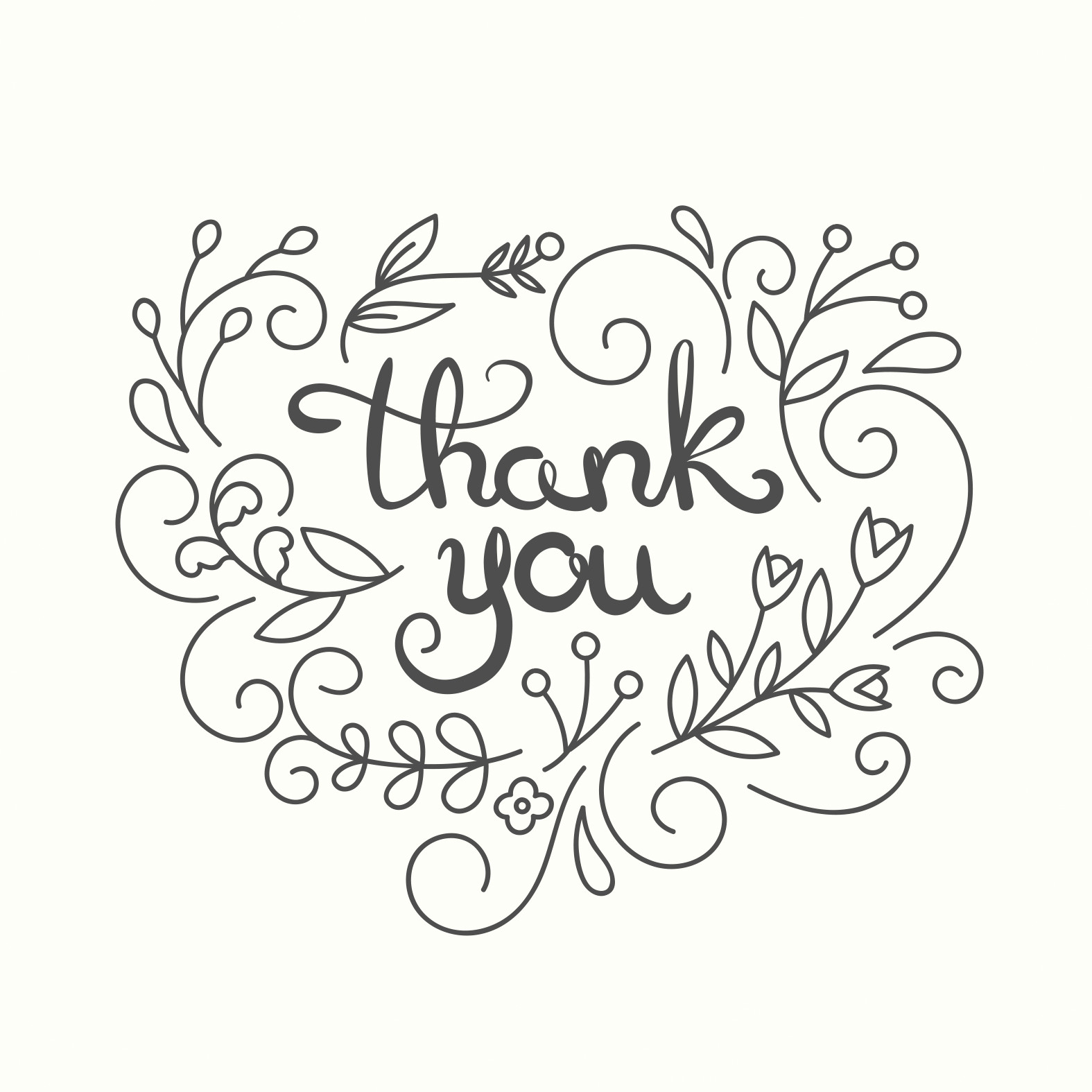 Thank You Postcard Template Simple Swirls Thank You Card Template Free