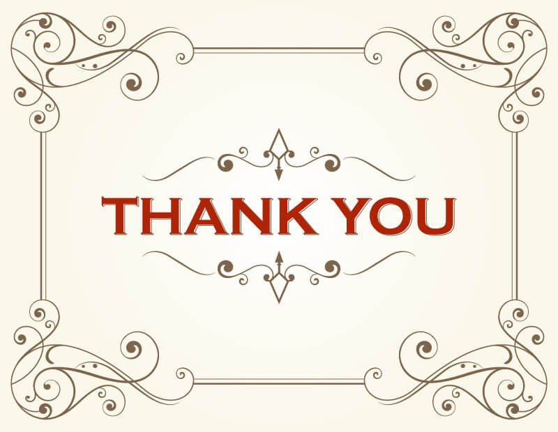 Thank You Postcard Template Thank You Card Template