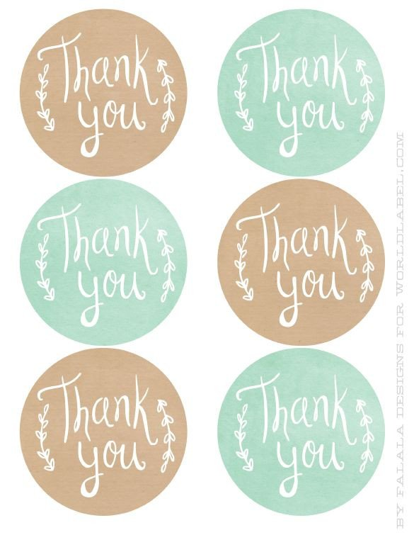 Thank You Printable Tags 25 Best Ideas About Thank You Labels On Pinterest