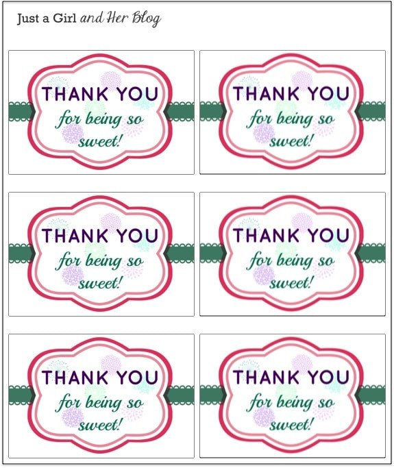 Thank You Printable Tags A Sweet and Simple Thank You Gift with Free Printable
