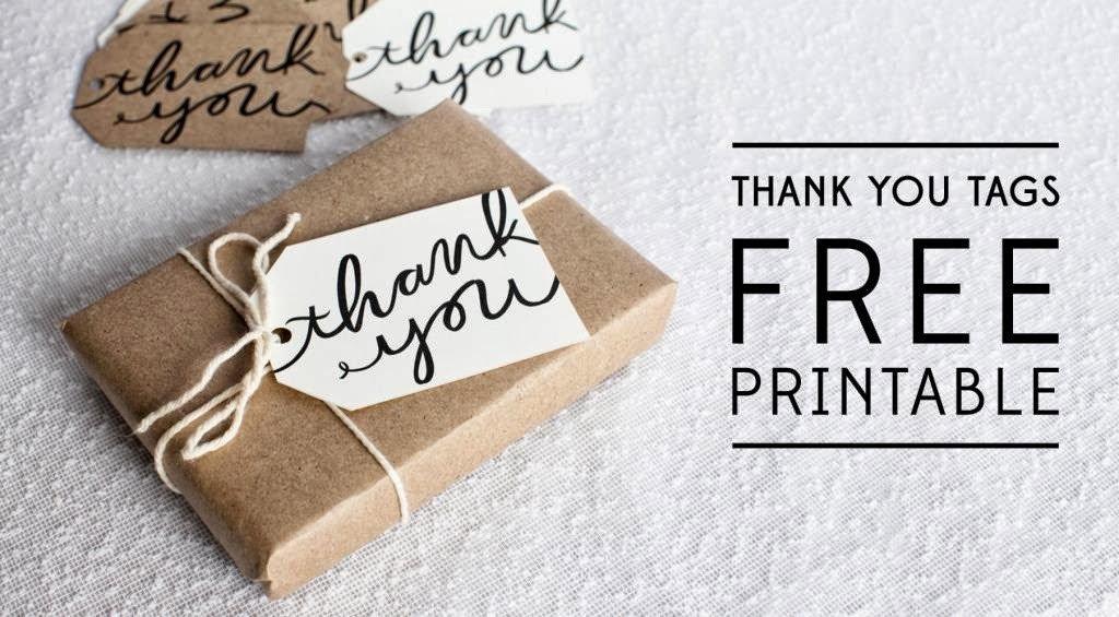 Thank You Printable Tags Bells and Whistles Thank You Tag Printable
