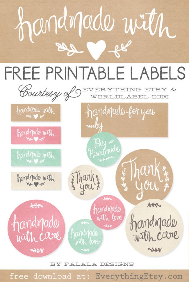 Thank You Printable Tags Free Printable Thank You Cards Etsy Business