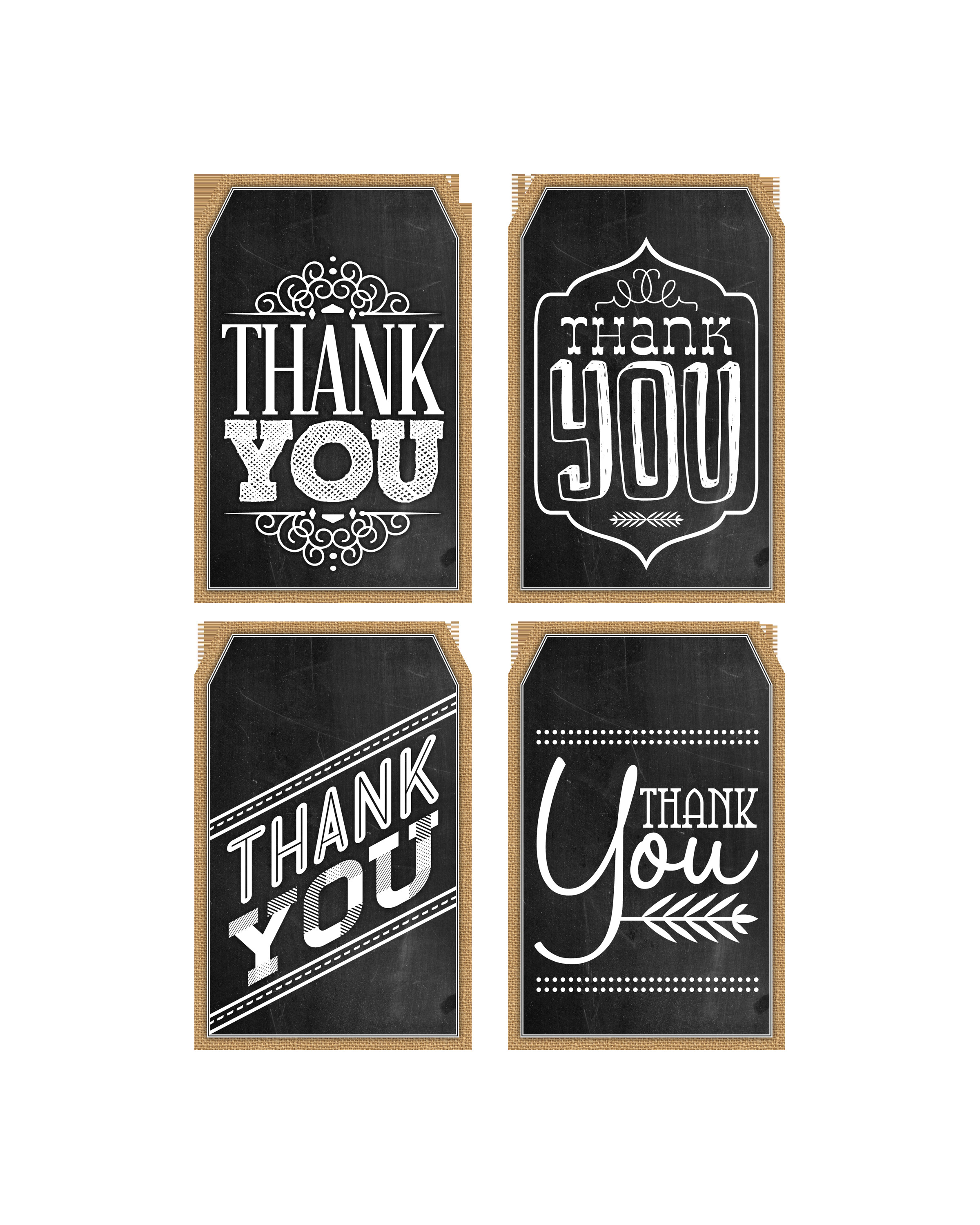 Thank You Printable Tags Free Printable Thank You Chalkboard Tags & A Happy