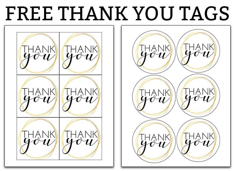 Thank You Printable Tags Printable Thank You Tags