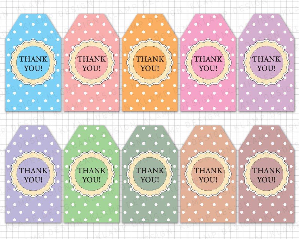 """Thank You Printable Tags Printable Thank You Tags """"thank You Printable Tags"""" Diy"""
