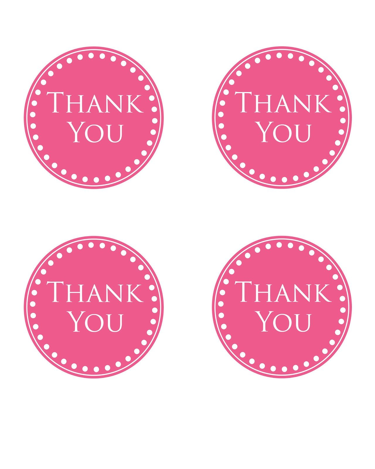 Thank You Printable Tags Simply This and that
