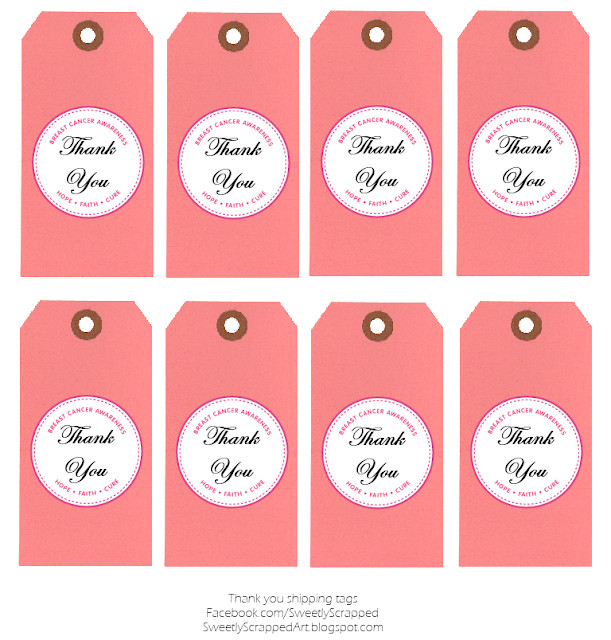 Thank You Printable Tags Sweetly Scrapped Breast Cancer Awareness Free Printables