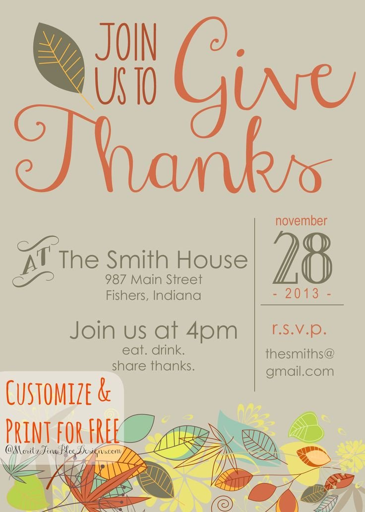 Thanksgiving Invitation Templates Free Word 17 Best Ideas About Thanksgiving Invitation On Pinterest