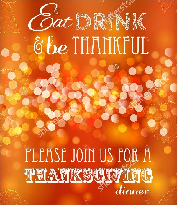 Thanksgiving Invitation Templates Free Word 27 Sample Thanksgiving Invitations Psd Vector Eps