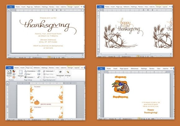 Thanksgiving Invitation Templates Free Word Best Thanksgiving Templates for Microsoft Word