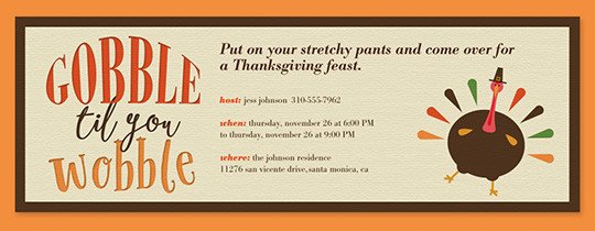 Thanksgiving Invitation Templates Free Word Free Line Thanksgiving Dinner Invitations