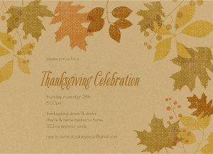 Thanksgiving Invitation Templates Free Word Printable Fall Leaves Thanksgiving Invitation Template
