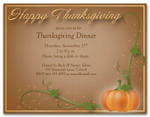 Thanksgiving Invitation Templates Free Word Printable Happy Thanksgiving Invitation Template