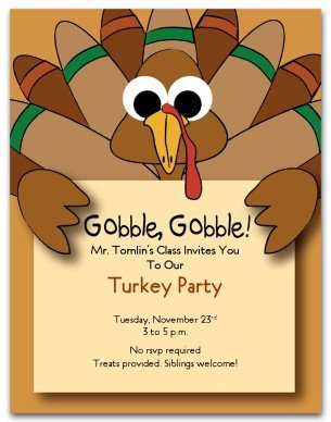 Thanksgiving Invitation Templates Free Word Printable Turkey Party Invitation Template