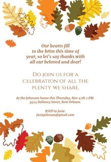 Thanksgiving Invitation Templates Free Word Thanksgiving Invitation Templates Free